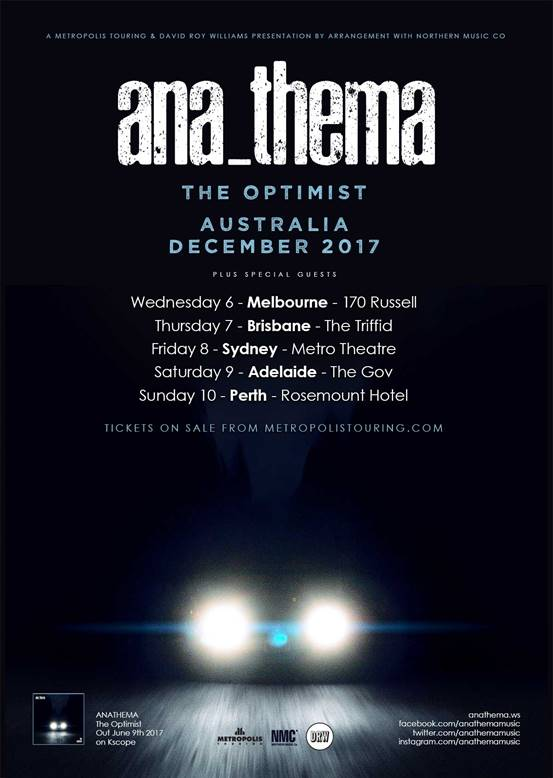 Anathema 2017 Tour