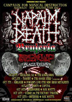 NAPALM DEATH CFMD Australia 2017 Web