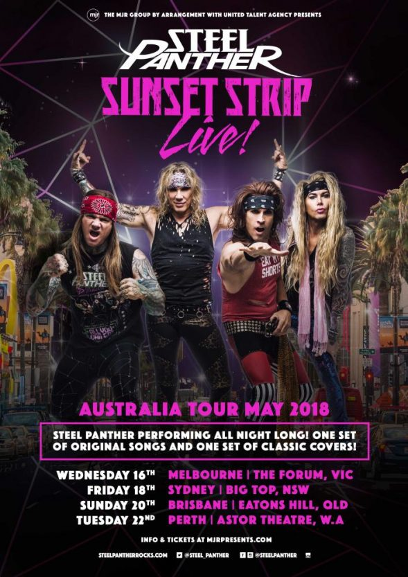 Steel Panther Tour