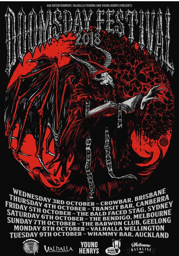 Church Of Misery Doomsday Festival 2018 Tour Poster