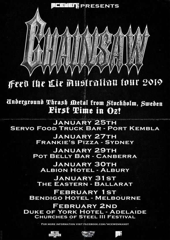 Chainsaw Aus Tour 19