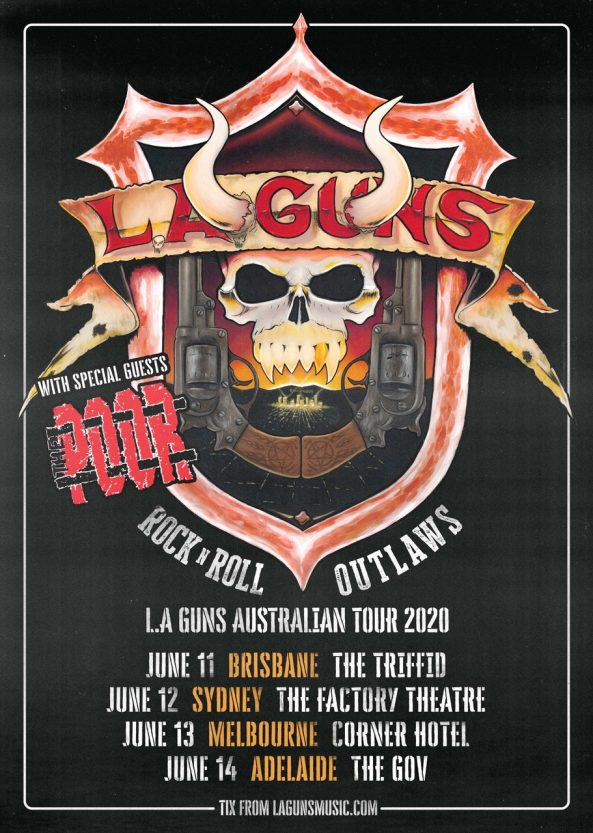 LA GUNS & THE POOR TOUR ARTWORK