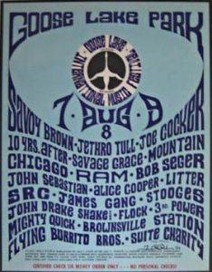 Goose Lake Poster 1970